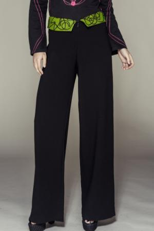 Trouser Aires de color de seda